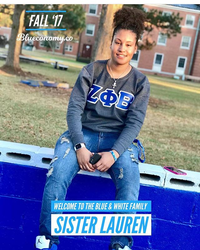 Congratulations to our so sweet Sister Lauren on joining the blue & white family - Alpha Gamma Fall '17 at Elizabeth City State University! @asiann.lu . Share/Tag your FALL '17 / SPR '18 Zeta and Sigma Sandz and Neos so we can congratulate them! . DM us for your membership code to download the Blueconomy app and connect with 350+ Sigmas and Zetas internationally. —- The purpose of Blueconomy is to develop a circular economy that connects and economically empowers our brothers and sisters. Stay updated on collegiate and alumni events, develop and support blue and white owned businesses, and create job opportunities for brothers and sisters within our community. . We're building an economy that will empower thousands of women and men generations to come. Similar to how those who came before us built something to empower us. . If you believe in our mission, share with members of the blue & white family. 🤘🏽💙🕊