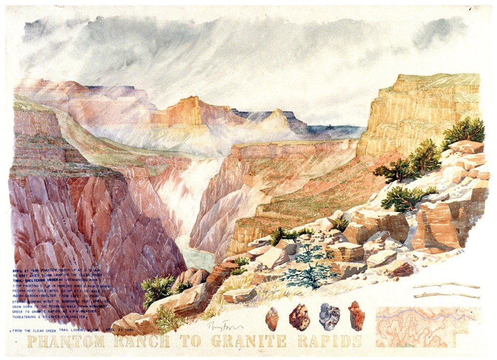 Tony Foster,  Phantom Ranch to Granite Rapids , 1988  |  Watercolor and graphite on paper  |  22  1/2  x 31  1/4  in.  |  1988.1.9