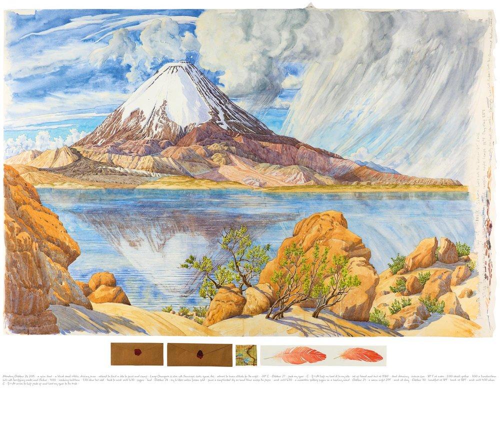Tony Foster ,  Parinacota Looking Due North across Lago Chungara—5 Days at 15,400' , 2015