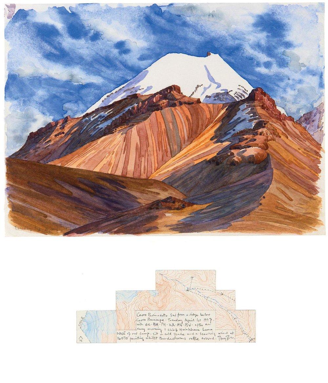 Tony Foster ,  Cerro Parinacota SW from a Ridge below Cerro Pomerape , 1997