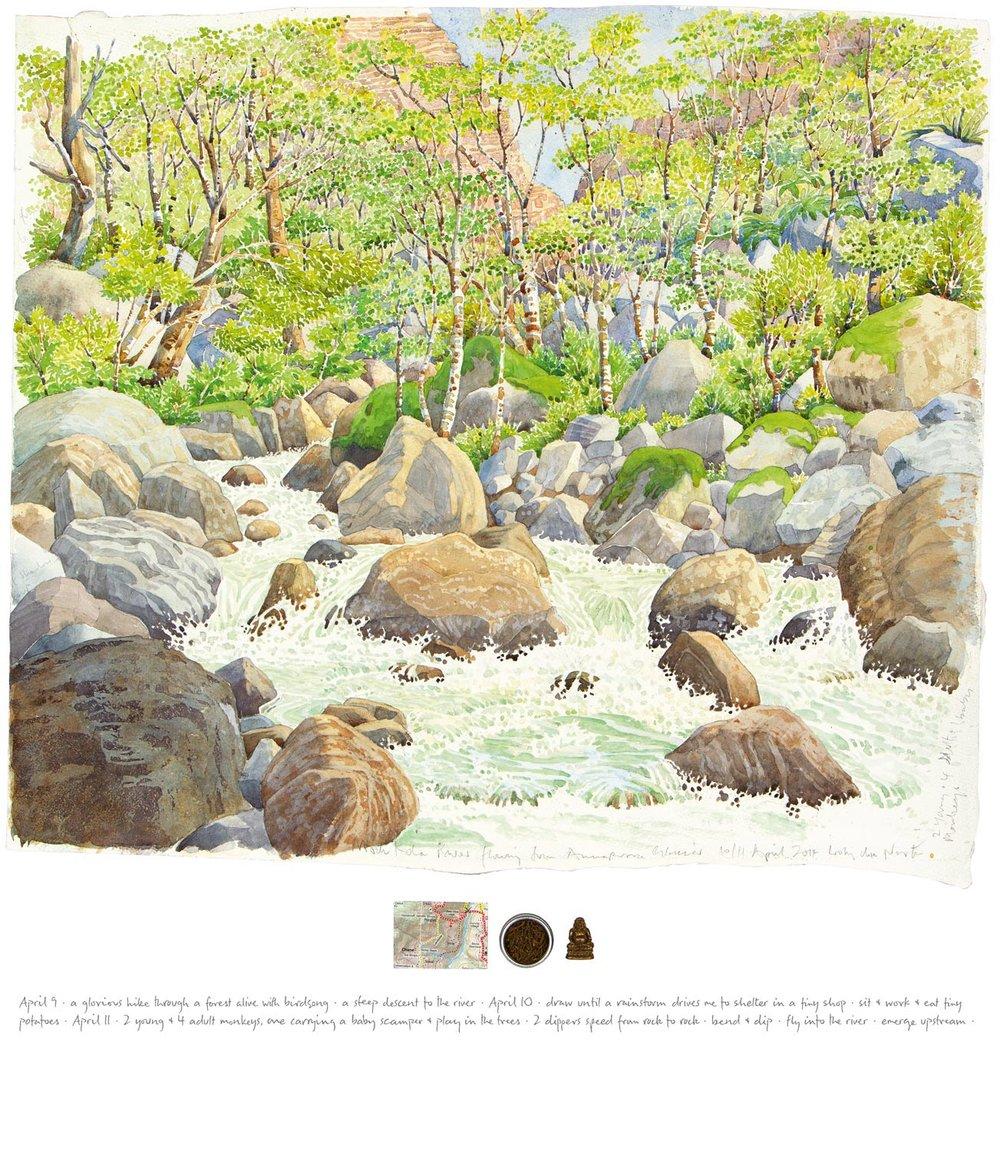 Tony Foster ,  Machapuchare 2—Modi Kola River Looking North , 2014