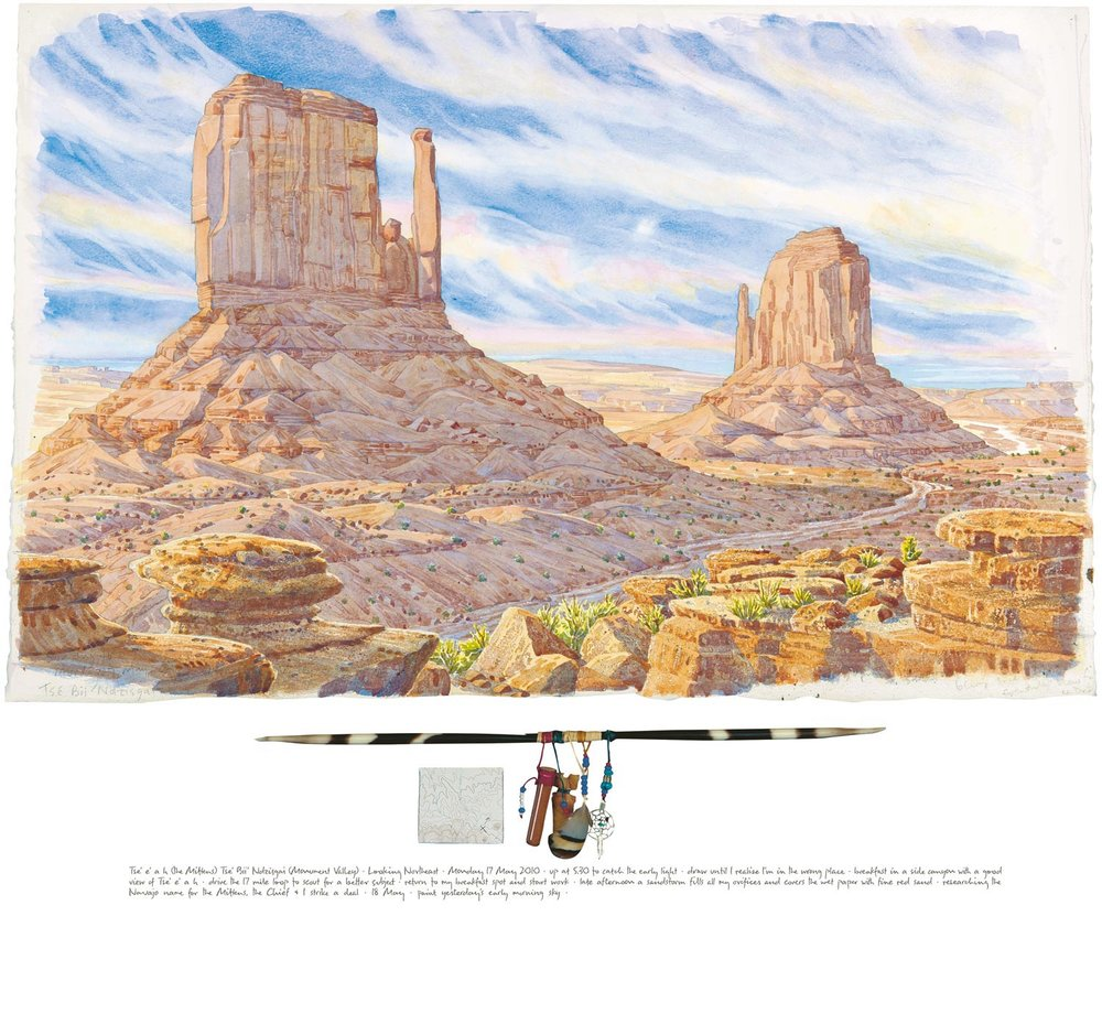Tony Foster ,  Tse e a h (The Mittens), Tse´bii´nidzisgai (Monument Valley) Looking Northeast , 2010