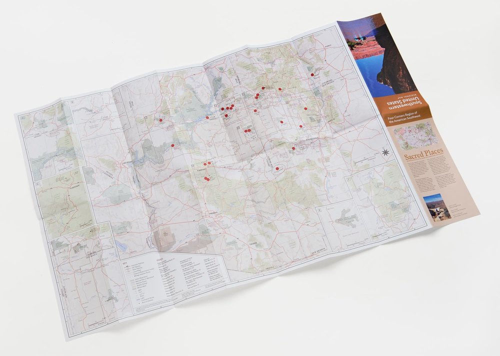 Recreation of Tony's map used to plot out all of his painting sites.