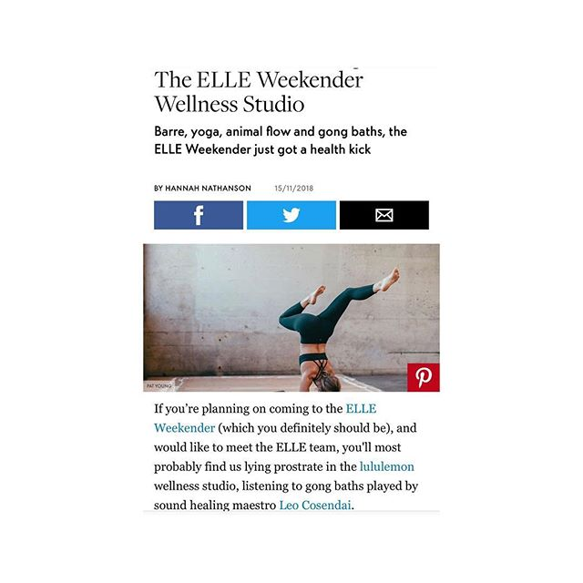 Looking forward to creating some good vibes for @elleuk at #elleweekender with @lululemonuk 〰️👋🏽〰️ #gongbath #soundmeditation