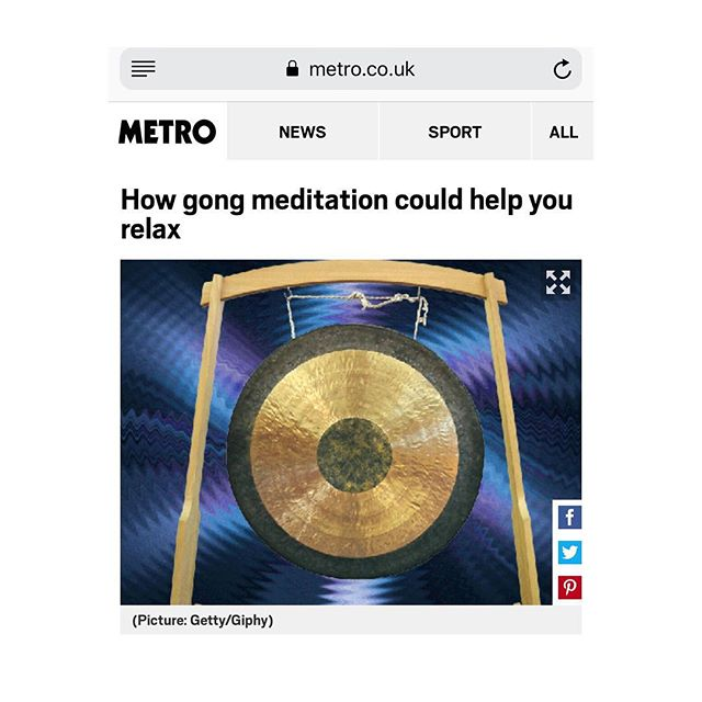 Tired of having meditation on your to do list? @metro.co.uk takes you through one of my sound baths.  Link on my profile - read till the end of you can 🤓 #gongbath #meditation
