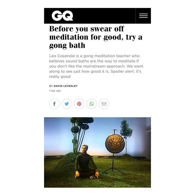 @britishgq @gq took a gong bath and time disappeared. The future of meditation is here!  #gongbath #meditation #7daysofsoundmeditation