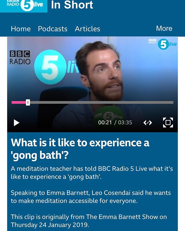 We got some great live comments from our audience! Thank you @emmabarnett for having me on your show, I loved discussing it with you. I always love introducing people to sound meditation. 👌🏽#gongbath