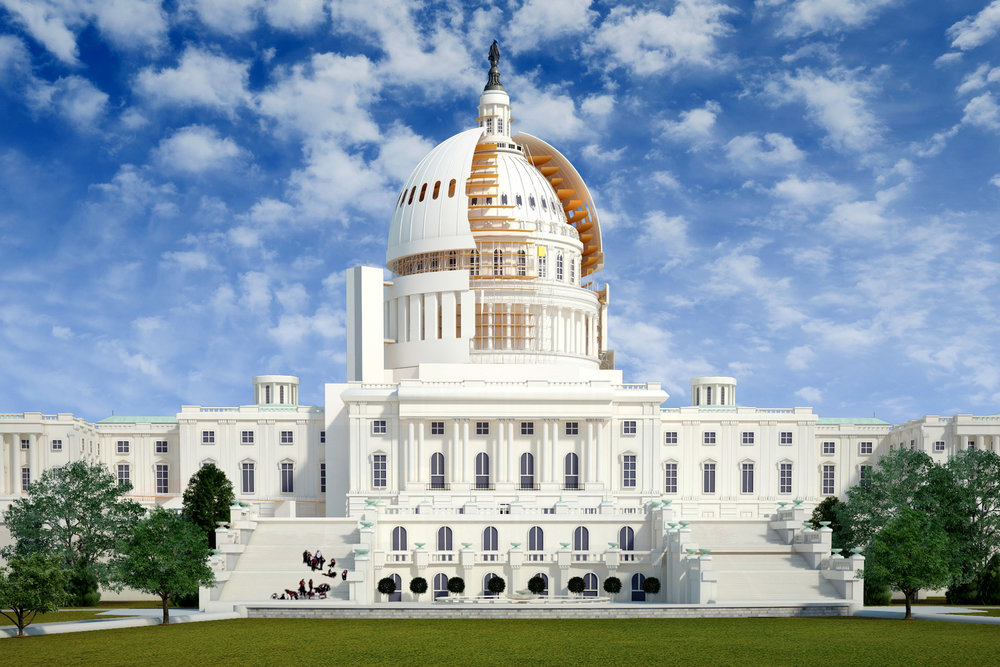 us capitol dome restoration - 4D Construction Simulation