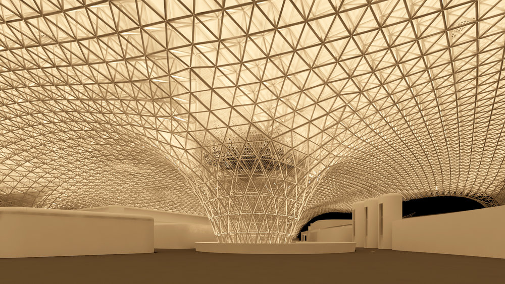 mex international airport - 3D Lighting Rendering