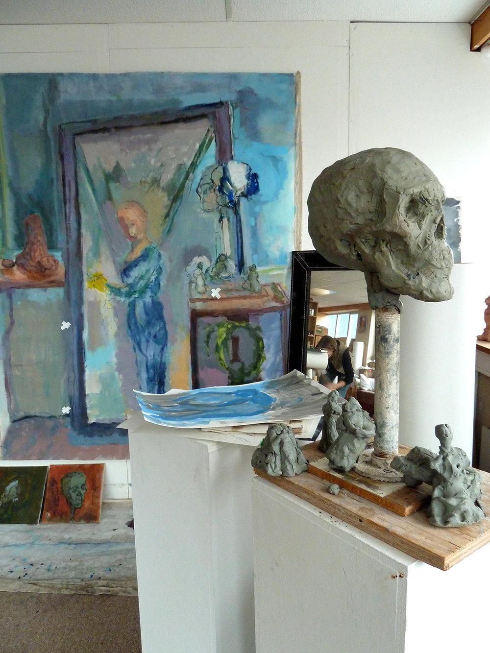 Fra atelieret til Torild Stray på Norsk Stålpress Artist Studios.