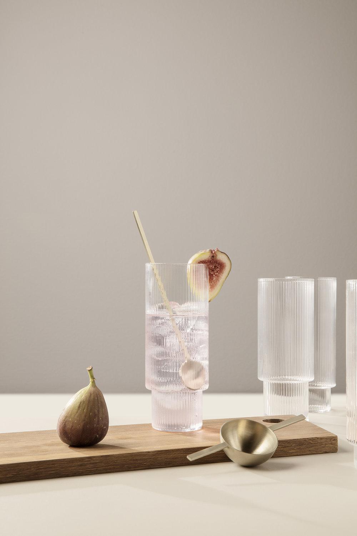 Ferm Living er kjent for sine spennende produkter og disse long drink glassene er intet unntak.