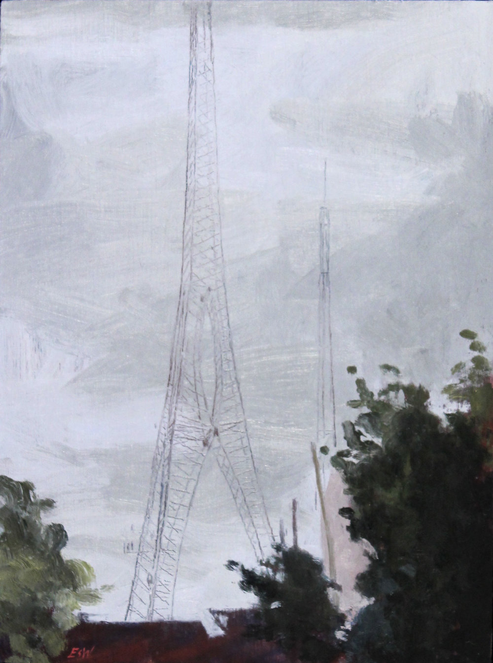 Hughes Tower In The Rain