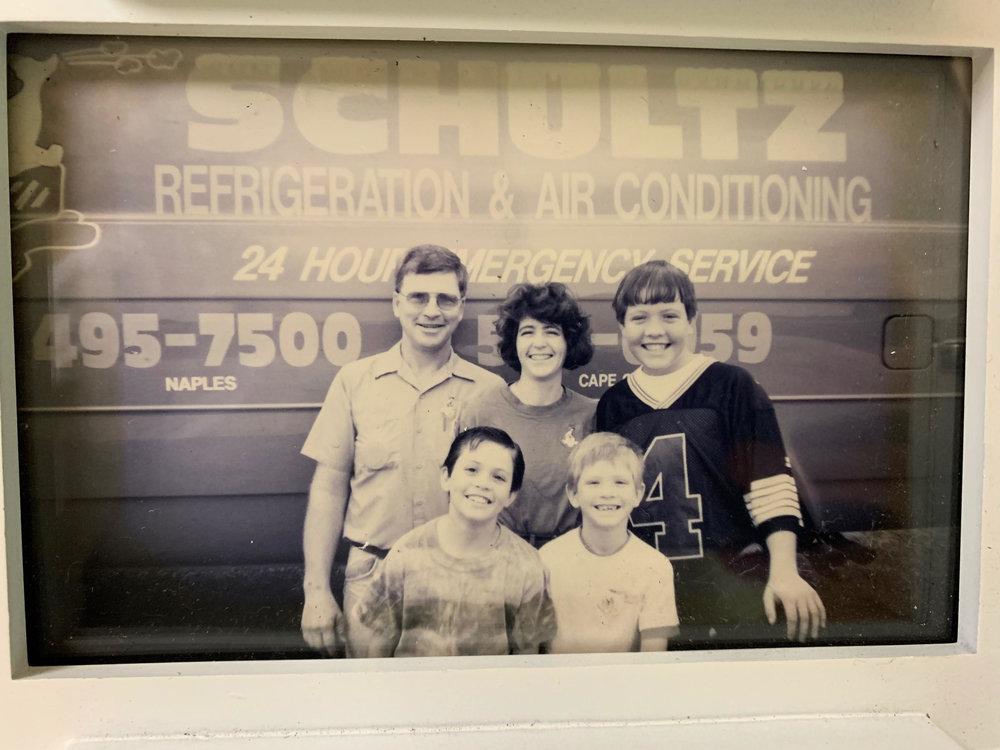 Keith, Julia Adam, mervin & aaron Schultz. 1995