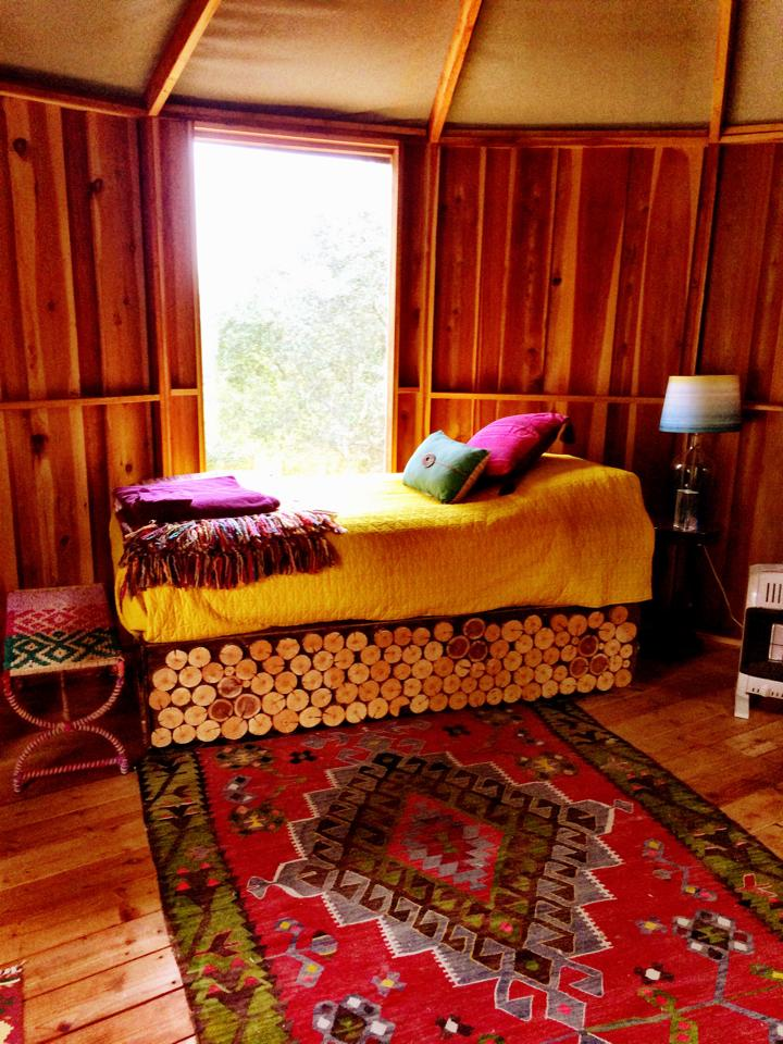 YURTS - SOLD OUTThere are 4 yurts to choose from:Beloved's Bungalow, $1099: 1 queen bed, 1 twin bed, claw foot bath tub Pomo Pad, $999: 2 twin beds, outdoor toilets/showerShiva's Shala, $1099: 2 twin beds, claw foot bath tubBlackbird's Boudoir $1099: 4 twin beds, private bath tub and toilet*all prices are per person, based on shared occupancy.
