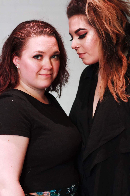 Callie (Halley Elizabeth Robertson) looks fondly on Sara (Jenevieve Lafferty). Photos by Chantel Harvey