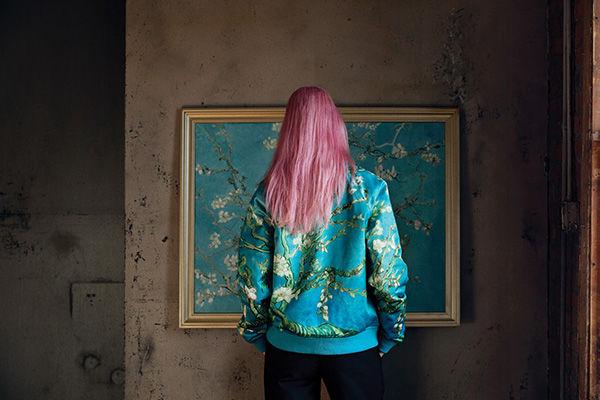 Vans x Vincent Van Gogh Almond Blossom Bomber, $140, Vans