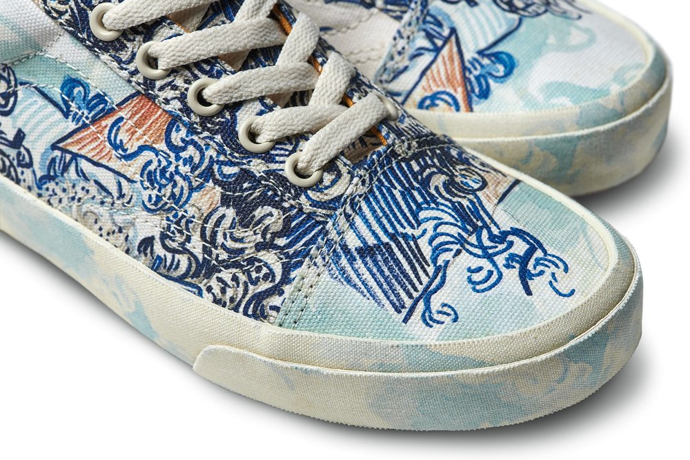 Van Goghs Works Come Off The Wall Onto Popular Shoe Brand Warm Soda
