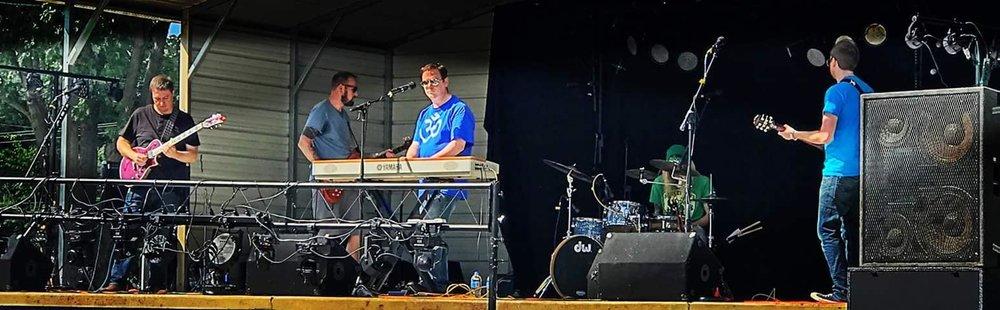 Astrofix playing at Turnerfest.  Photo courtesy of Turnerfest's Facebook.
