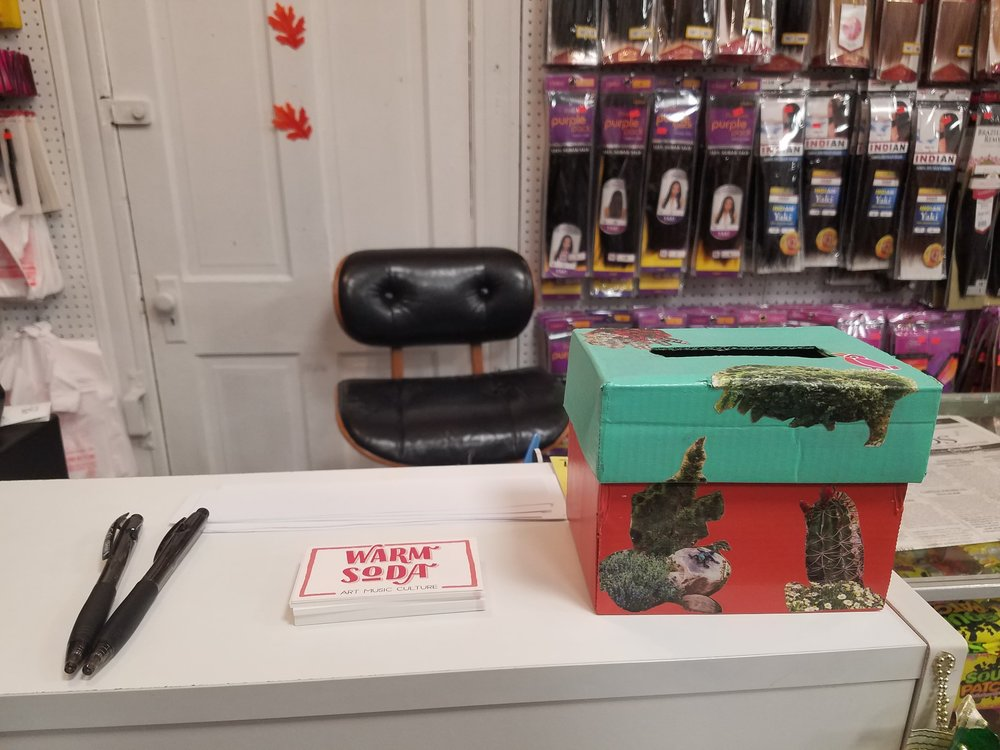 Box placed in Today's Beauty Supply on Central Avenue in Alton.