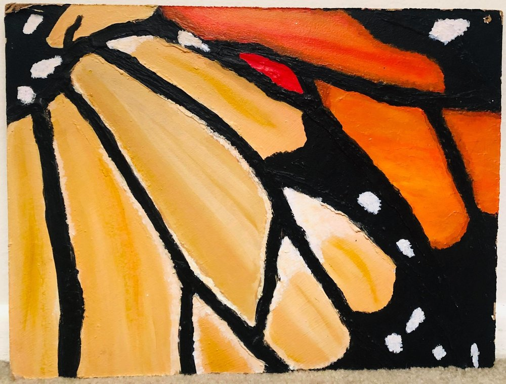 """Monarch"" painted by Coburn. Photo by Kenzie Coburn"
