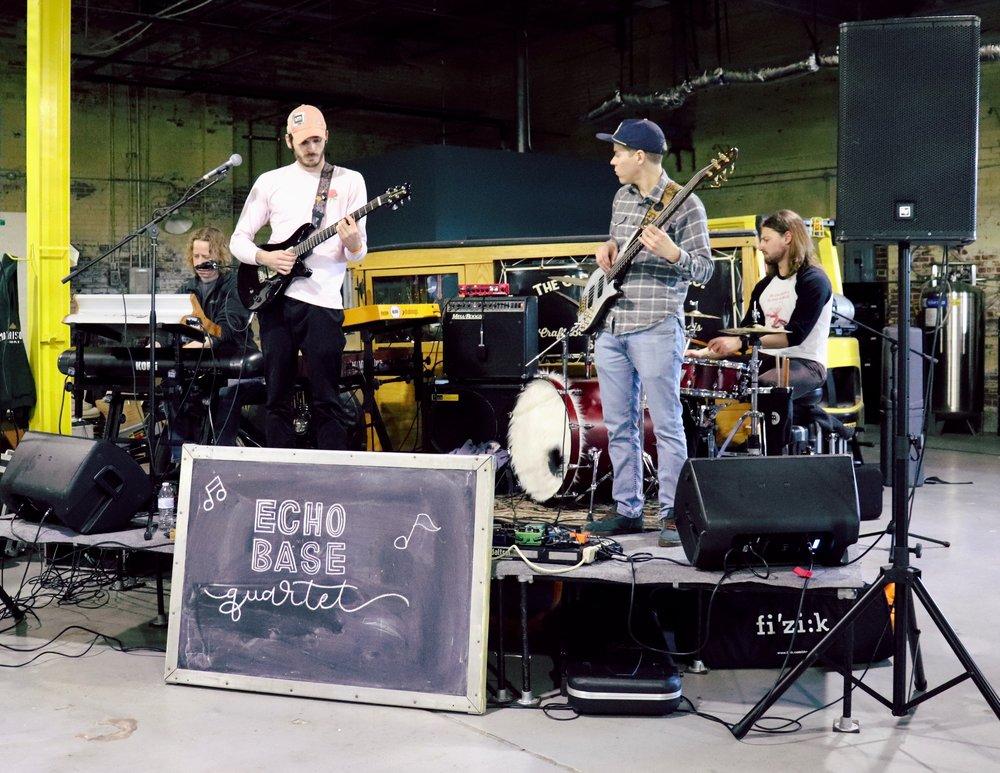 Echo Base Quartet plays during the fest.  Photo by Rosita