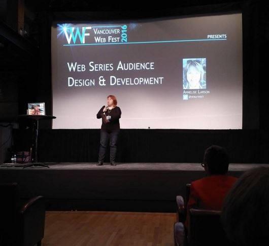 Annelise Larson presents at Vancouver Web Fest 2016