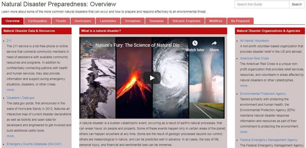 Natural Disaster Preparedness -