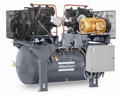 LS – LP SERIES – Heavy Duty Reciprocating Air Compressors    2-30 HP Two Stage, Splash S & Pressure P Lubricated, Simplex, Duplex & Base Mounted    Ideal for Automotive, Control, Manufacturing & Medium to Larger Shops.