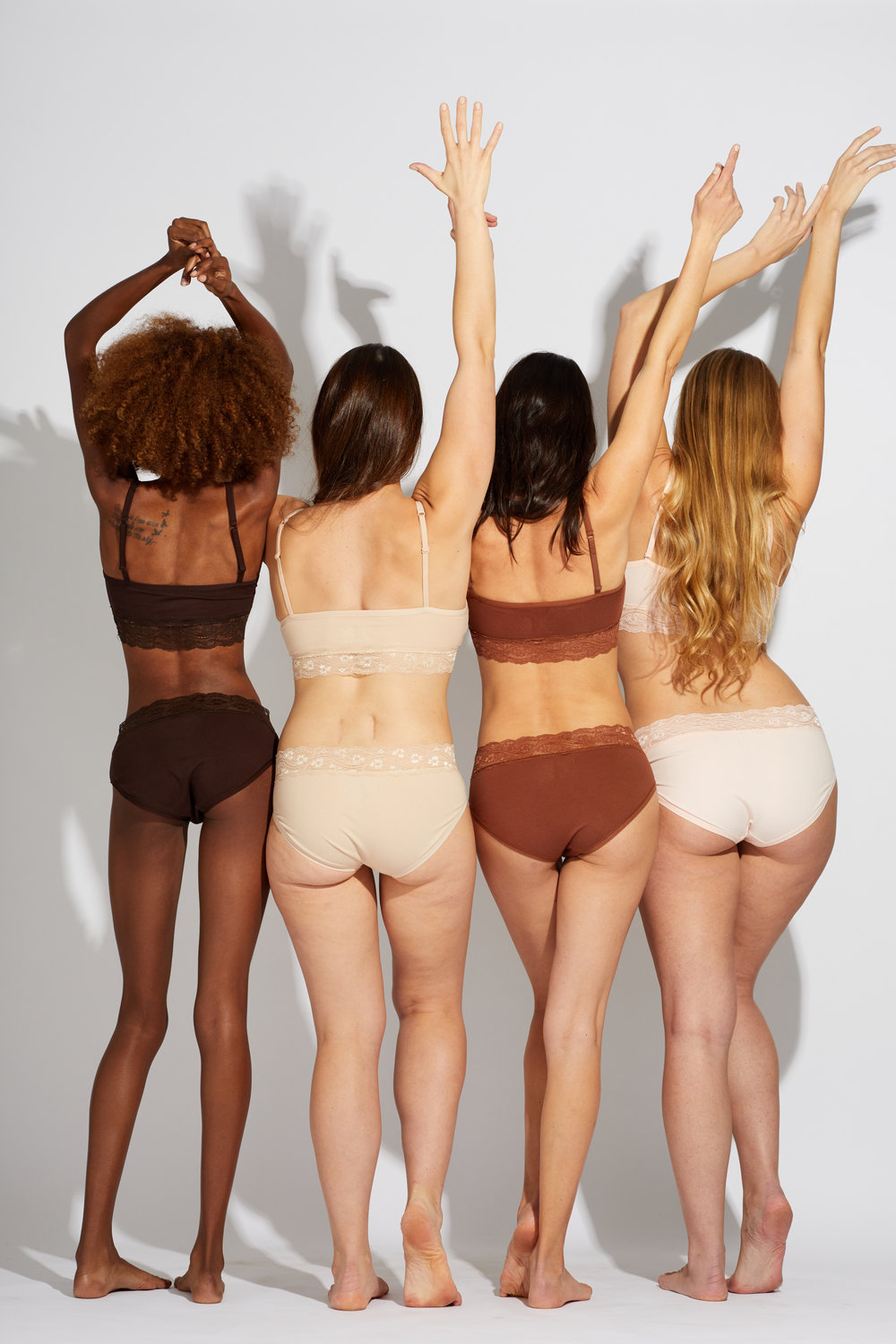 Setting the tone. - Introducing our new True Tones collection - bras & undie sets crafted out of 100% organic cotton, tinted with individuality. With six stylish cuts of undies and a curve-kissing, padded bra in each stunning shade, it's as close to au naturel as it gets without going commando. Each soft and flattering piece beautifully blends with your true hue, so all that stands out is you.