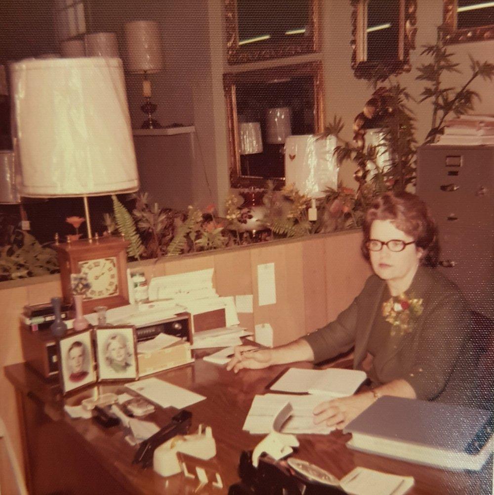 Mrs. Dorothy Johnson, Co-Owner, 1971