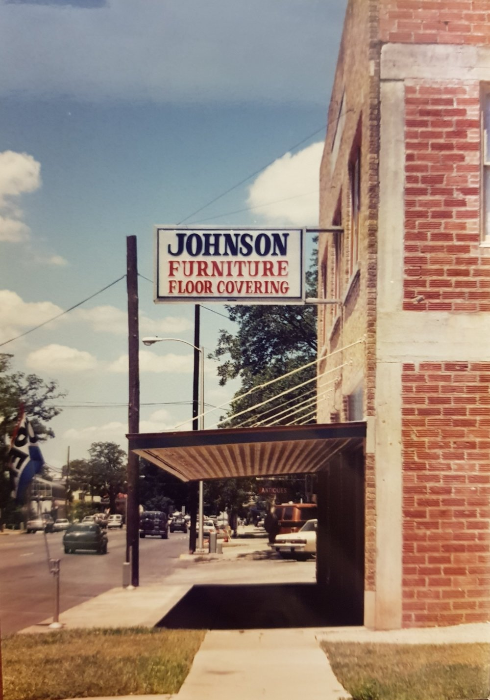 Updated store sign, 1984