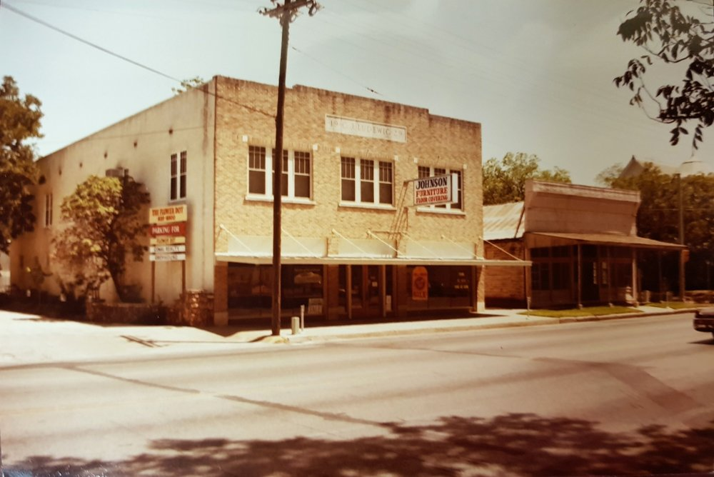 Original store circa 1858 (right building) and current building circa 1929 (left building).