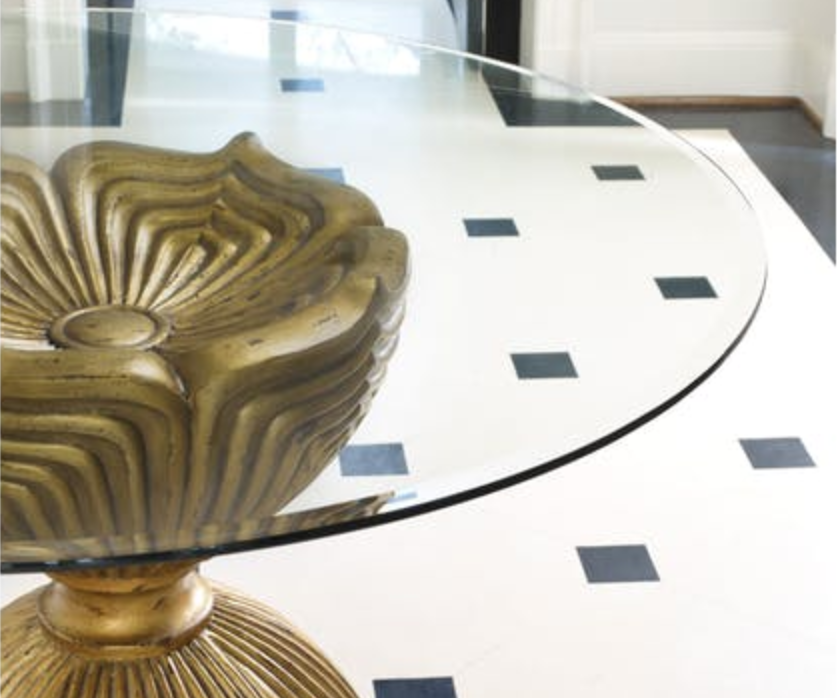 Shangri-La Gilded Dining Table by Hooker