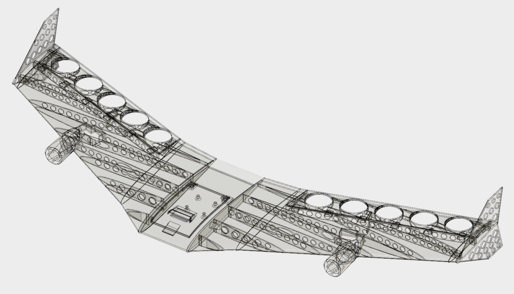 Complete aircraft designed in Fusion 360