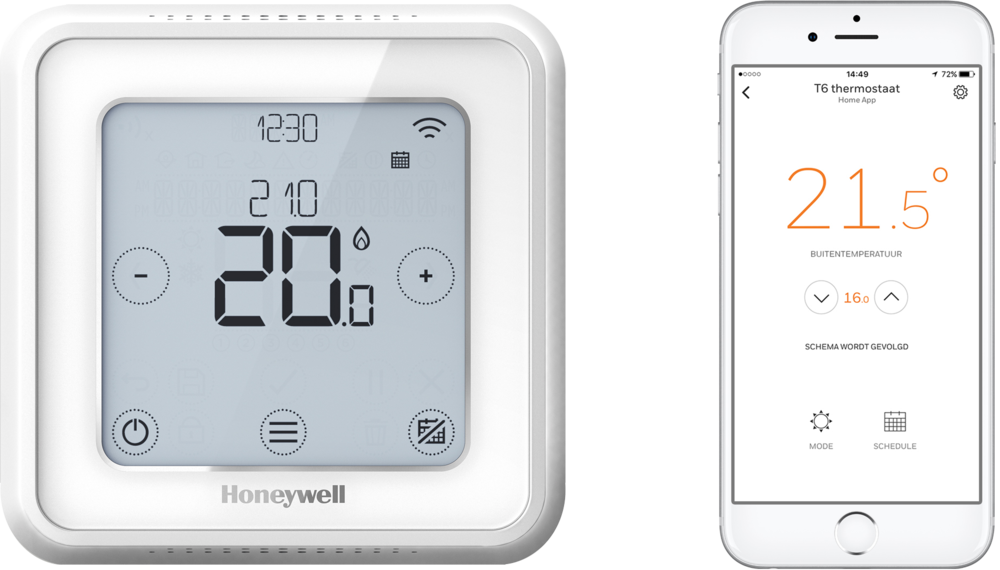 #Honeywell #T6-slimme-thermostaat-wit