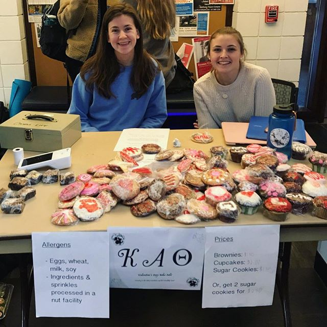Hope everyone had a chance to check out @tuftsthetas bake sale today! All proceeds are going to the Theta Foundation & Friendship Fund. Happy Valentine's Day to everyone 💕