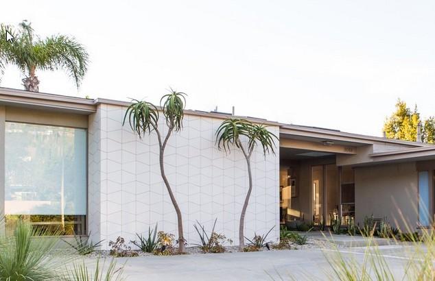 mid-century pool home