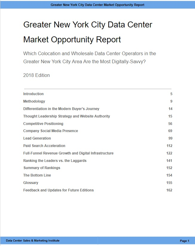 B - Greater New York City Data Center Market Opportunity Report - TOC from Excerpt.jpg