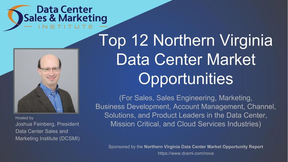 "Register for the Webinar: ""Top 12 Northern Virginia Data Center Market Opportunities"""