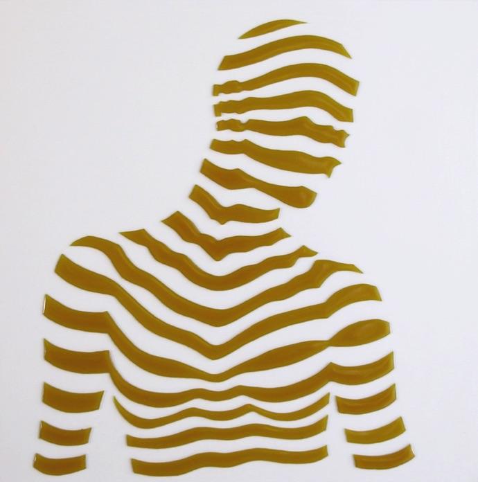 """Stripe Study#2. 10""""x10""""x1"""""""