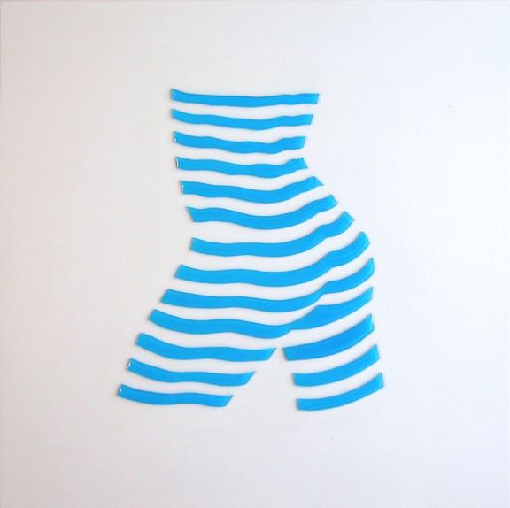 """Stripe Study#3. 10""""x10""""x1"""""""