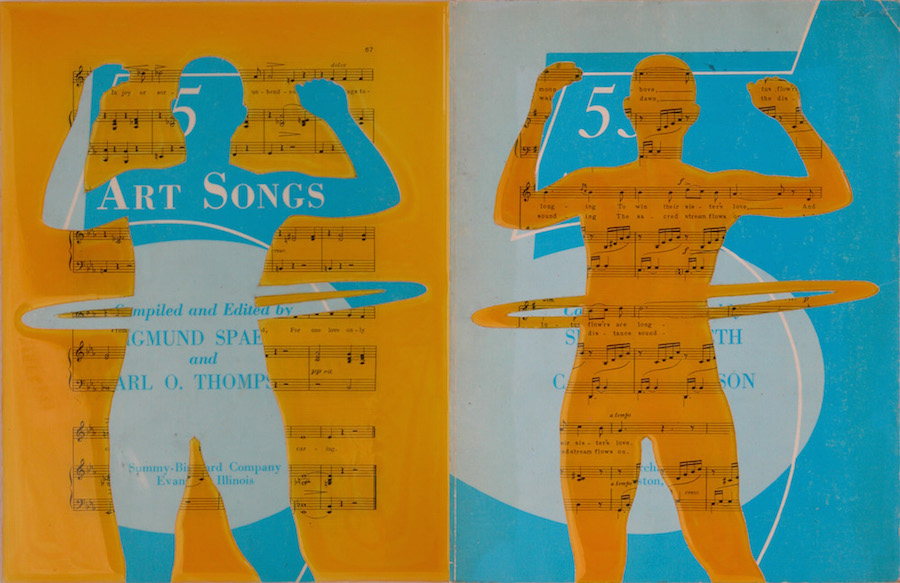 "Art Songs. 12""x18""x1"". 2005"