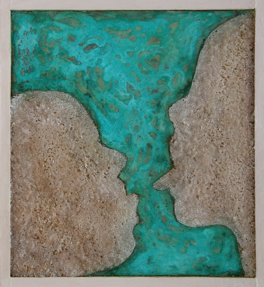 "NaCu. 2000. 7""x7""x1"". Salt and Copper"