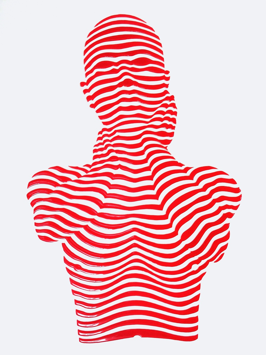 "StripePose#25. 24""x18""x1.5"""