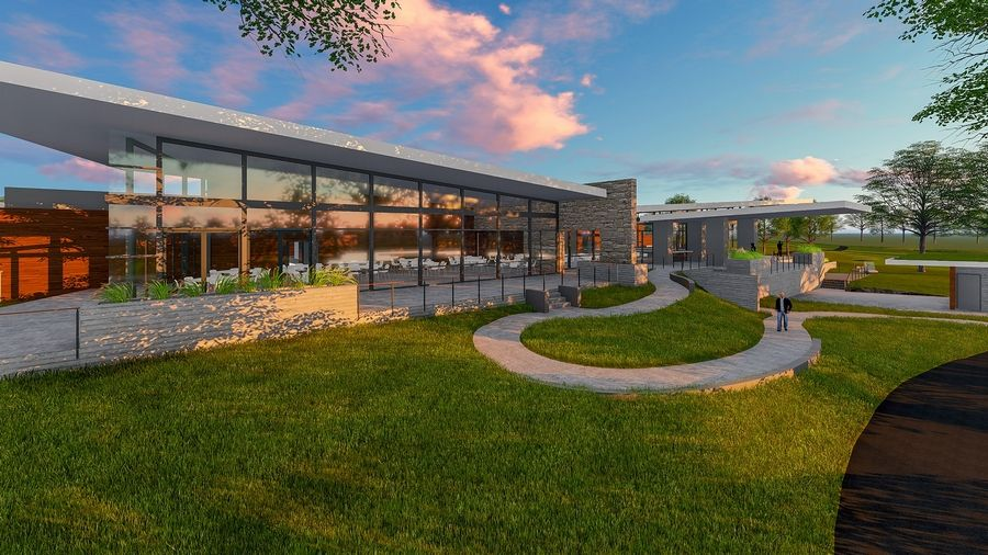 DuPage forest preserve commissioners in July are expected to find out how much it would cost to build a proposed clubhouse at The Preserve at Oak Meadows in Addison. If built, the building would have a pro shop, a restaurant and bar, and outdoor terraces.  Courtesy of the Forest Preserve District of DuPage County