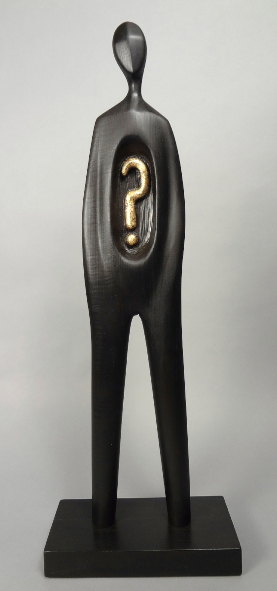 The Question - This minimalist sculpture is from the series,