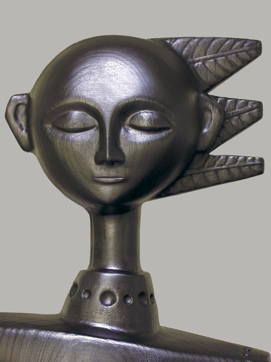 Detail of head of figure