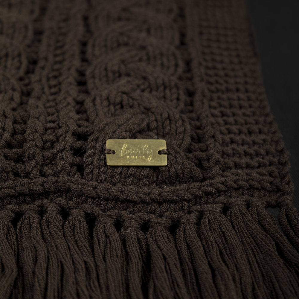 Chocolate Cable Scarf