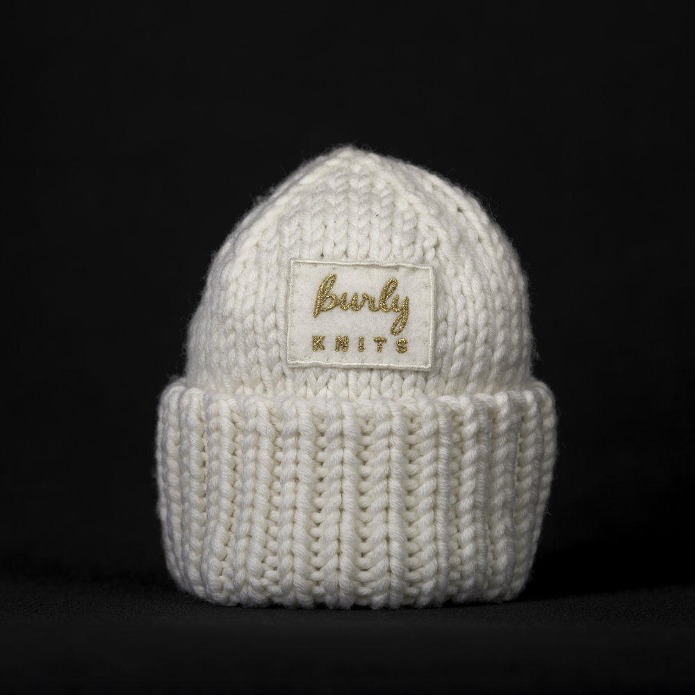 Snow Baby Touque - chunky merino