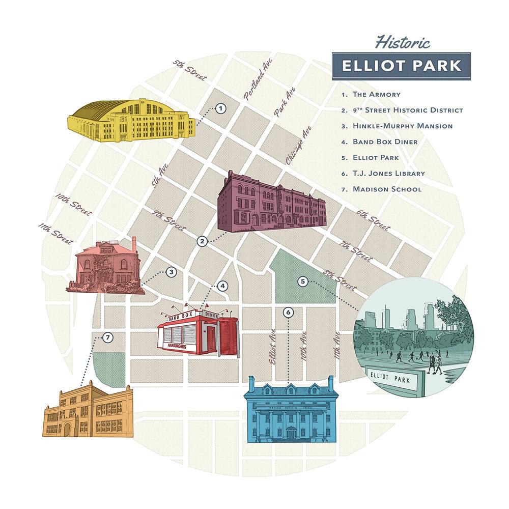 Map of Elliot Park